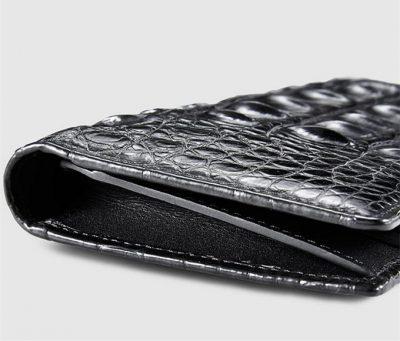 Handmade Long Crocodile Wallet-Left