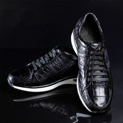 Lightweight Air Cushion Genuine Alligator Skin Running Shoes