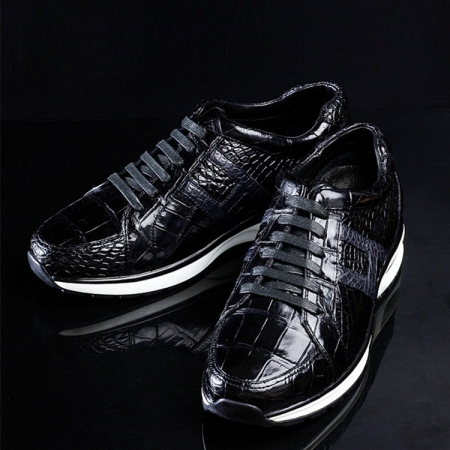 Lightweight Air Cushion Genuine Alligator Skin Running Shoes-Exhibition
