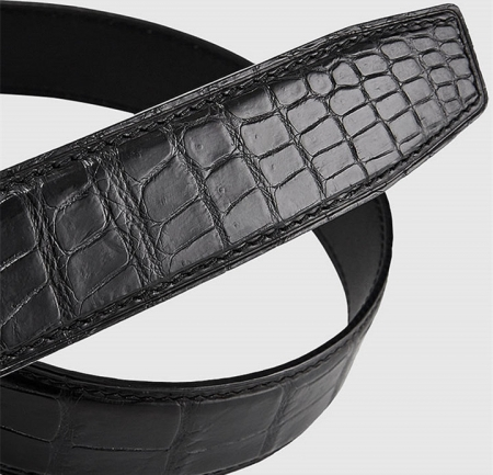 Luxury Automatic Buckle Genuine Alligator Skin Dress Belt-2