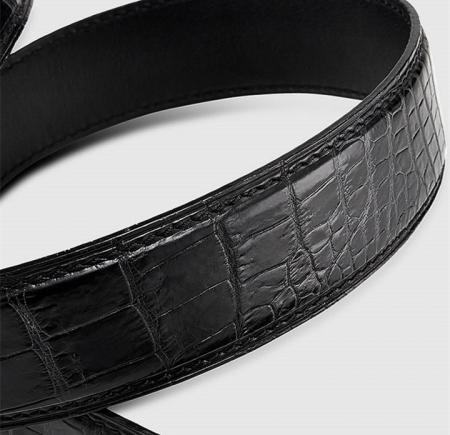 Luxury Automatic Buckle Genuine Alligator Skin Dress Belt-3