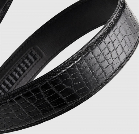 Luxury Automatic Buckle Genuine Alligator Skin Dress Belt-4