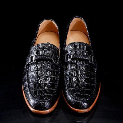 Luxury Handmade Alligator Boat Shoes-1