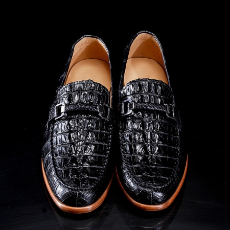 Luxury Handmade Alligator Boat Shoes-1