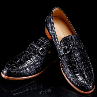 Luxury Handmade Alligator Boat Shoes