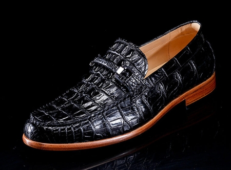 Luxury Handmade Alligator Boat Shoes-Side
