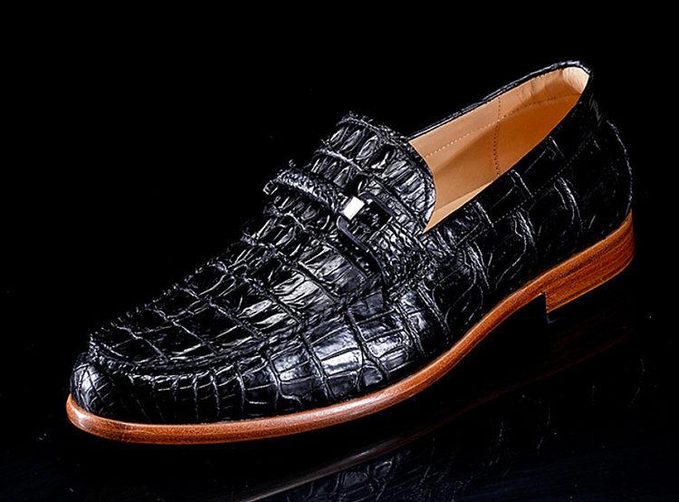 Luxury Handmade Alligator Boat Shoes-Side