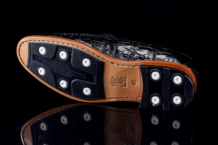 Luxury Handmade Alligator Boat Shoes-Sole