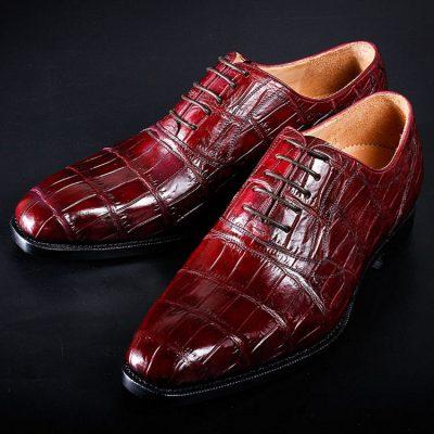 Mens Alligator Cap Toe Lace Up Shoes-Exhibition