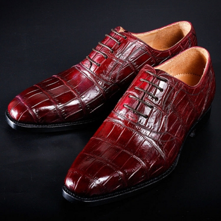 Mens Alligator Cap Toe Lace Up Shoes-Exhibition