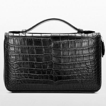 Mens Alligator Clutch Bag, Large Alligator Wallet-2