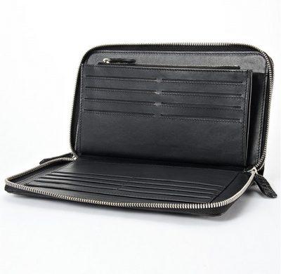 Mens Alligator Clutch Bag, Large Alligator Wallet-Inside