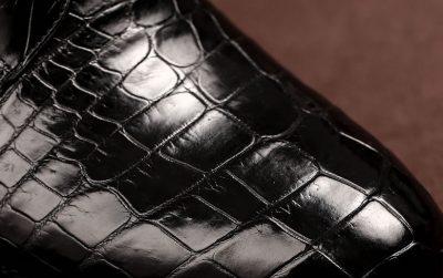 Mens Alligator Skin Lace-up Boots-Detail
