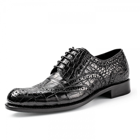Mens Alligator Skin Oxford Business Dress Shoes