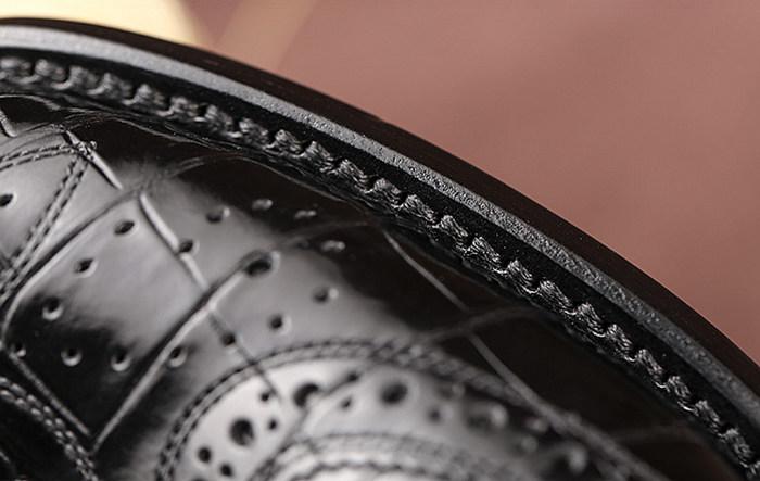Mens Alligator Skin Oxford Business Dress Shoes-Details