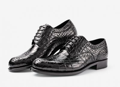 Mens Alligator Skin Oxford Business Dress Shoes-Exhibition