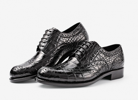 Mens Alligator Skin Oxford Business Dress Shoes-Exhibition