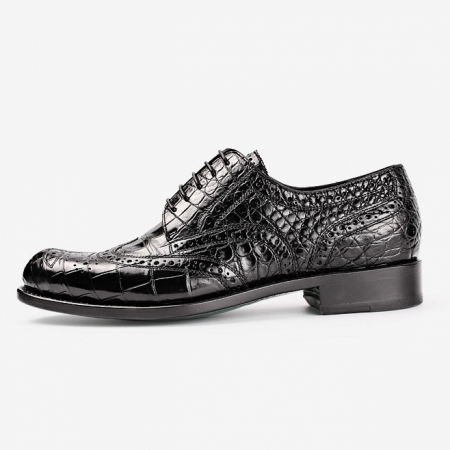 Mens Alligator Skin Oxford Business Dress Shoes-Side