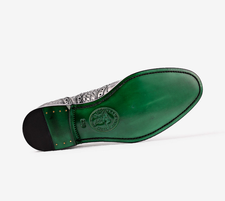 Mens Alligator Skin Oxford Business Dress Shoes-Sole
