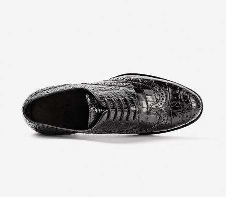 Mens Alligator Skin Oxford Business Dress Shoes-Upper