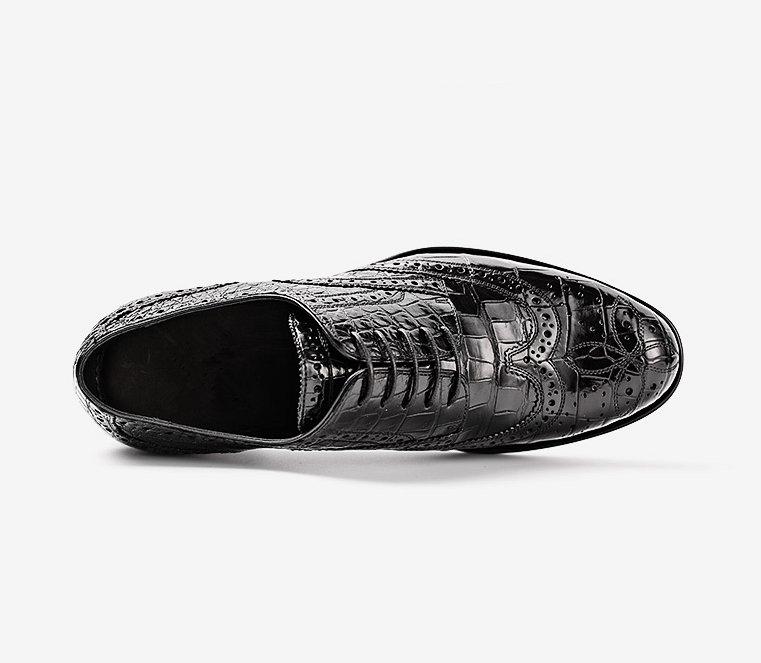 Mens Alligator Skin Oxford Business Dress Shoes-Upper