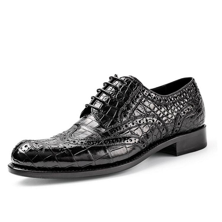 Mens Alligator Skin Oxford Business Dress Shoes