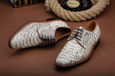 Mens Business Snakeskin Shoes, Casual Python Skin Shoes-Upper