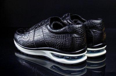 Mens Comfortable Sports Running Alligator Shoes-Heel