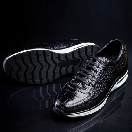 Mens Comfortable Sports Running Alligator Shoes-Sole