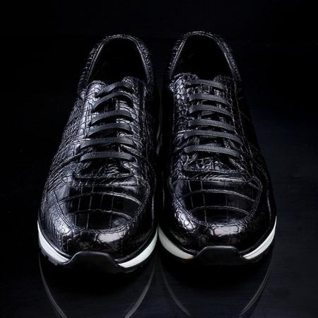 Mens Comfortable Sports Running Alligator Shoes-Upper