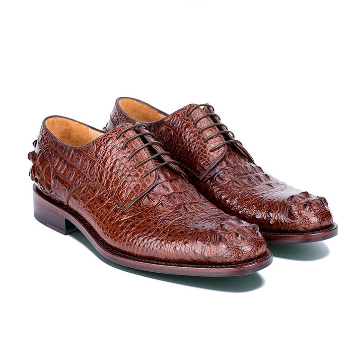 Mens Crocodile Skin Shoes-Exhibition