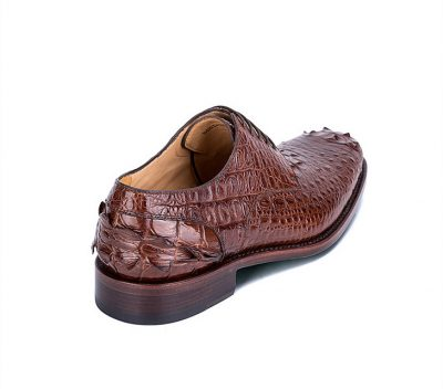 Mens Crocodile Skin Shoes-Heel