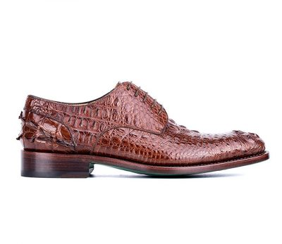 Mens Crocodile Skin Shoes-Side