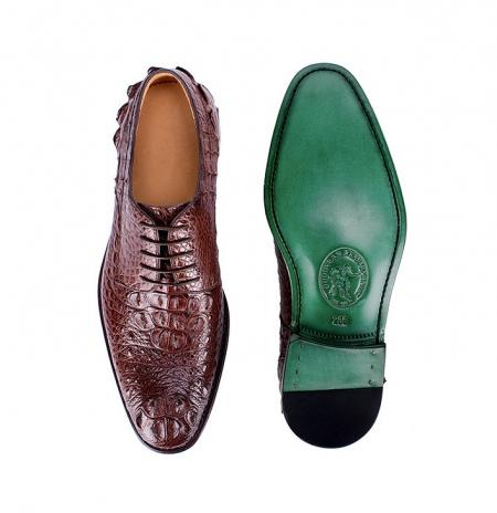 Mens Crocodile Skin Shoes-Upper-Sole