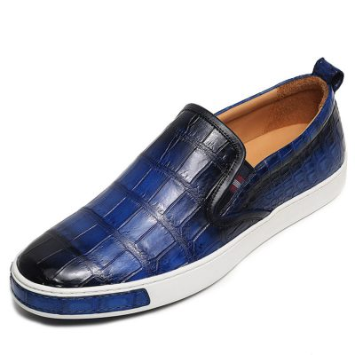 Mens Daily Slip On Fashion Alligator Sneakers - Blue