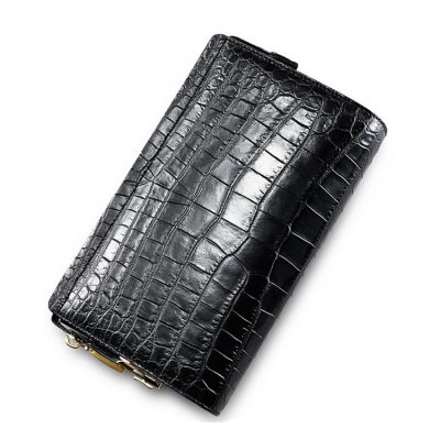 Mens Genuine Alligator Skin Wallet, Designer Alligator Clutch Wallet