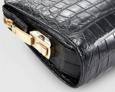 Mens Genuine Alligator Skin Wallet, Designer Alligator Clutch Wallet-Zipper