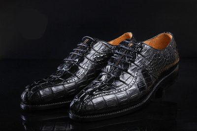 Men's Modern Classic Lace Up Alligator Dress Shoes-Details