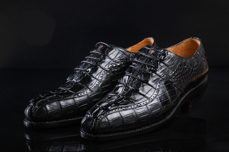 Men's Modern Classic Lace Up Alligator Dress Shoes-Details