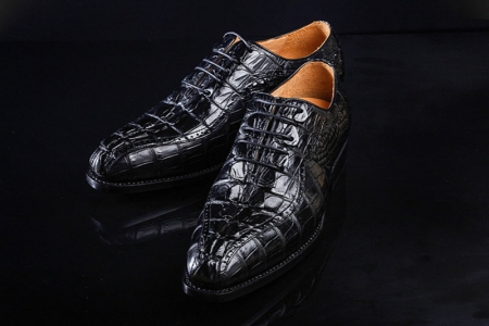 Men's Modern Classic Lace Up Alligator Dress Shoes-Exhibition