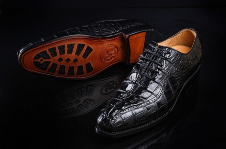Men's Modern Classic Lace Up Alligator Dress Shoes-Sole