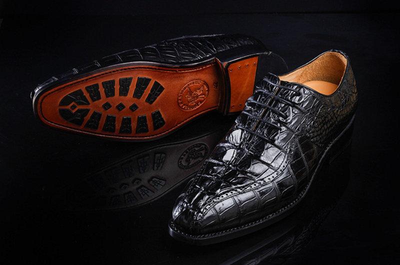 Men's Modern Classic Lace Up Alligator Dress Shoes-Sole