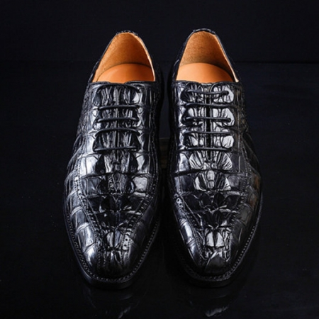 Men's Modern Classic Lace Up Alligator Dress Shoes-Upper