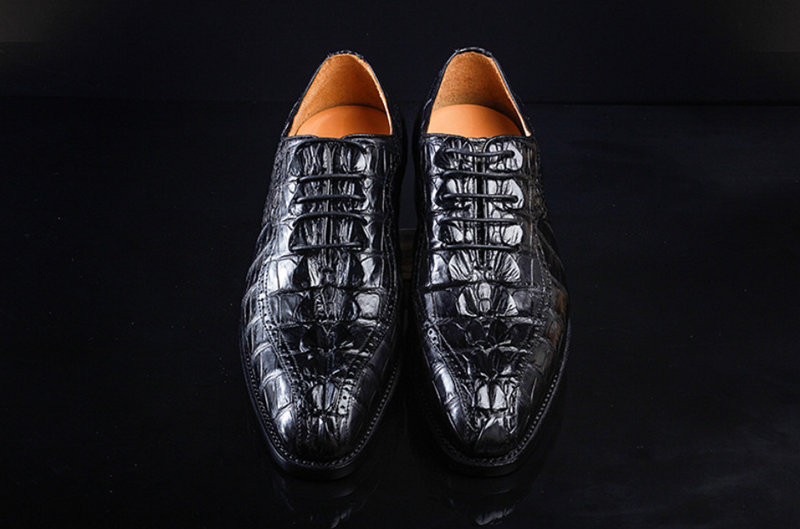 Men's Modern Classic Lace Up Alligator Dress Shoes-Upper