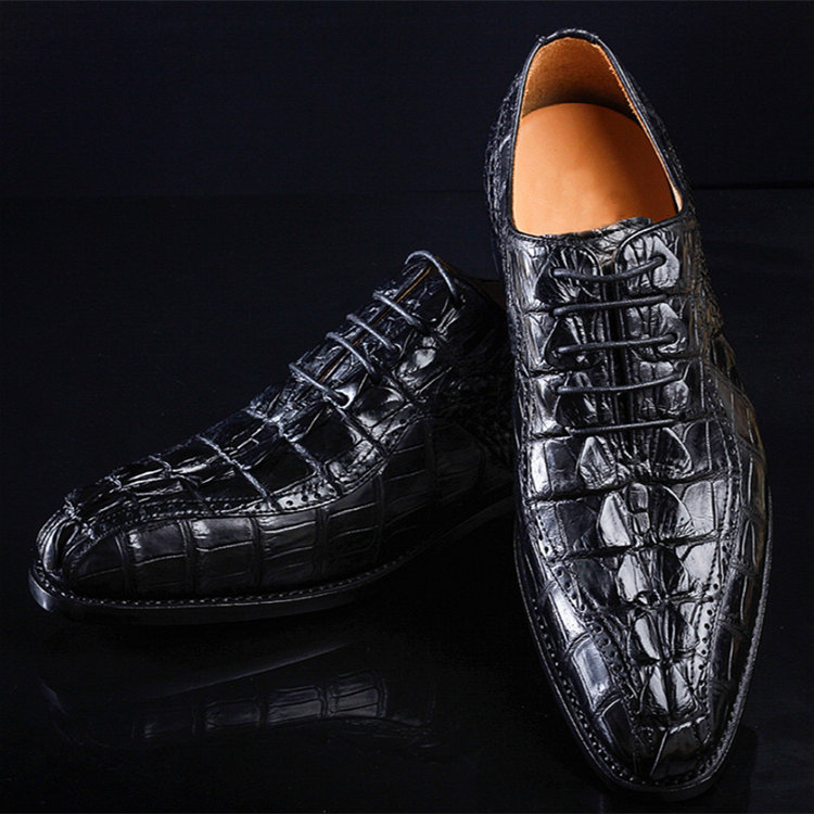 Men's Modern Classic Lace Up Alligator Dress Shoes