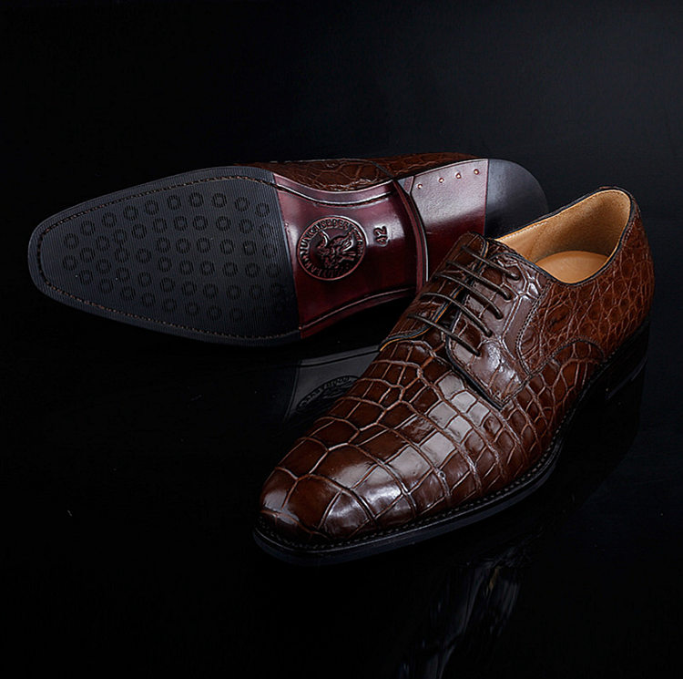 Premium Genuine Alligator Skin Lace Up Dress Shoes-Exhibition