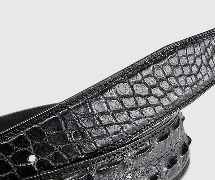 Stylish Genuine Crocodile Skin Belt for Men-2