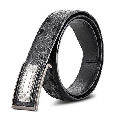 Stylish Genuine Crocodile Skin Belt for Men
