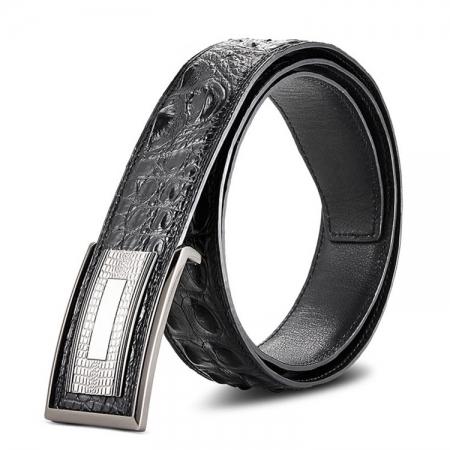 Stylish Genuine Crocodile Skin Belt for Men