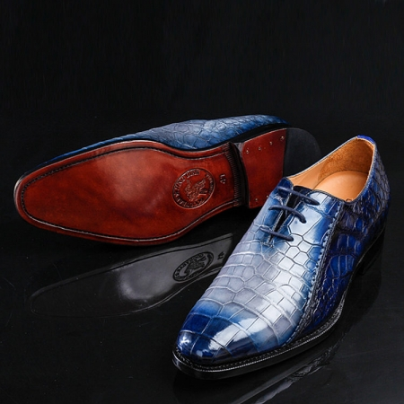 Timeless Alligator Shoes Mens Full Alligator Dress Shoes-Exhibition